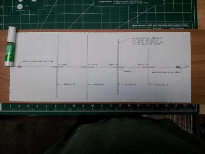 Willie L Bennett Chesapeake Bay SkipJack 3. Attached Template to Build Board.jpg