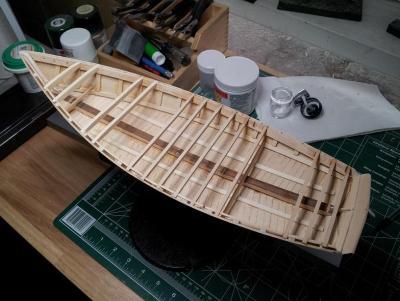 Willie L Bennett Chesapeake Bay SkipJack 24. Framing Begins.jpg