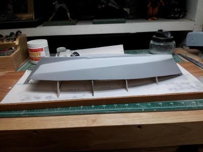 Willie L Bennett Chesapeake Bay SkipJack 22. Primed Hull - Port View.jpg