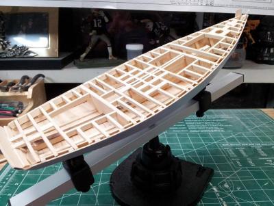 Willie L Bennett Chesapeake Bay SkipJack 26. Framing Complete 2.jpg