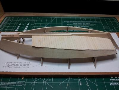 Willie L Bennett Chesapeake Bay SkipJack 9. Initial Planking Started.jpg