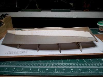 Willie L Bennett Chesapeake Bay SkipJack 10. Starboard Hull Rough Finish.jpg