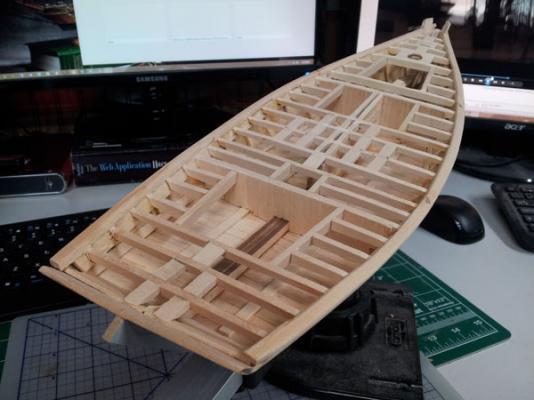 Willie L Bennett Chesapeake Bay SkipJack 28. Plankshears installed.jpg