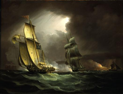 brig chase lugger by Thomas Buttersworth (1768-1842).jpg