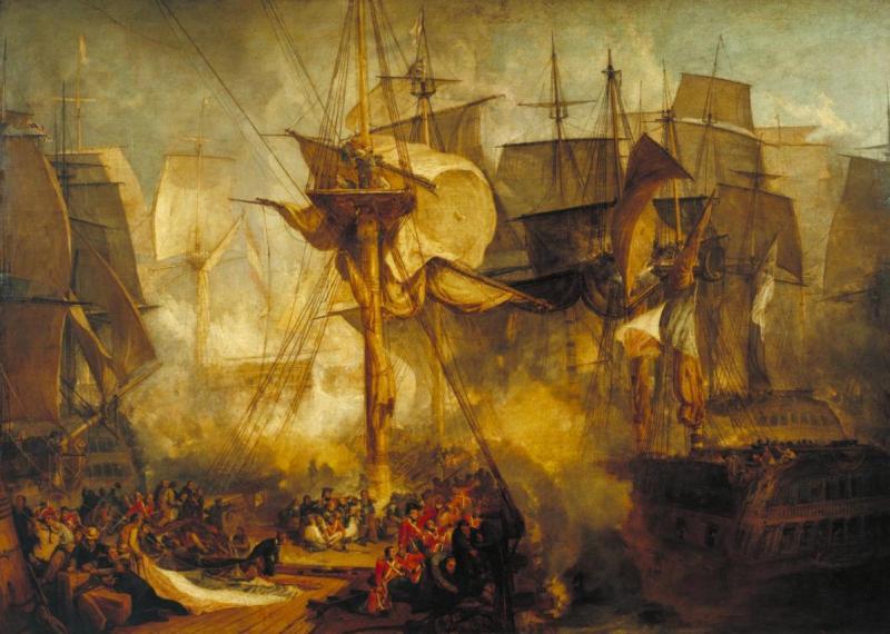 The Battle of Trafalgar as seen from the Mizzen of HMS Victory.jpg