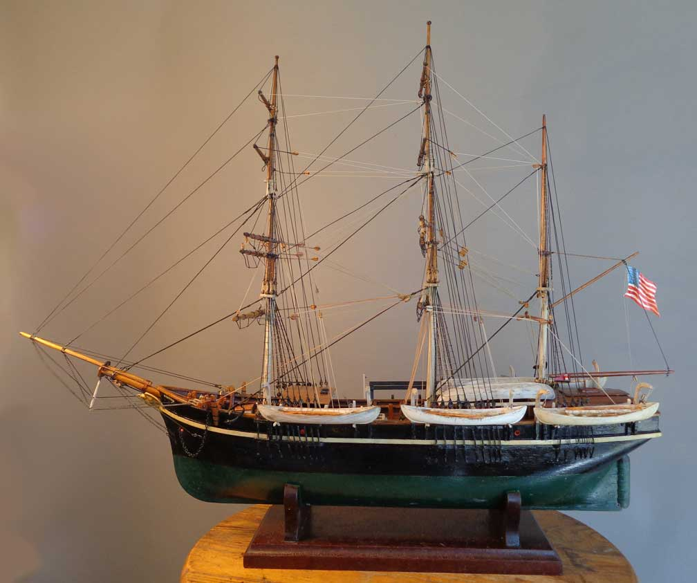 Barque Wanderer, the Last American Whaler to leave port on a whaling voyage