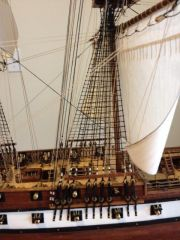 Main mast ratlines