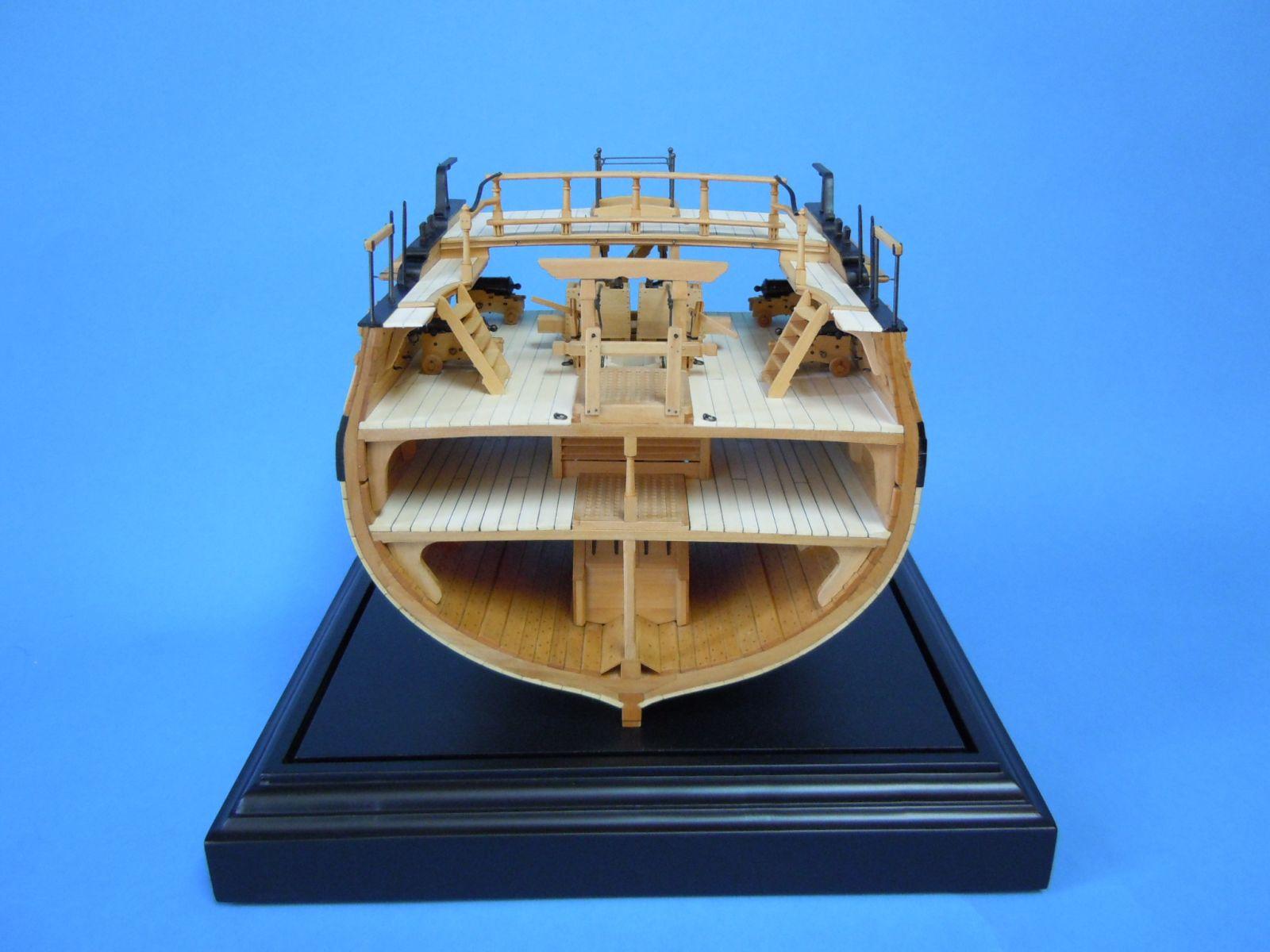 HMN Swan Class Sloop Pegasus Cross-section by Greg Herbert