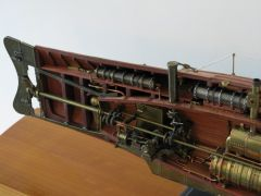 One-cylinder engine and gears