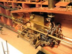 1-cylinder engine and gears
