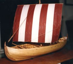 Viking knarr, circa 1200 AD