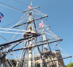Foremast from below.