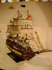 HMS Bellerophon, bow view