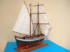 "A4. Greek traditional ship model named ""Bombarda Sabatiera"""