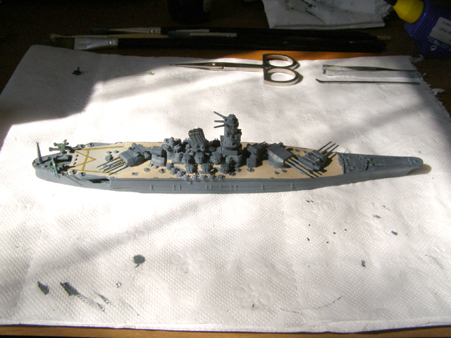 IJN Yamato 1/1200 Revell kit - Model Ship World by the