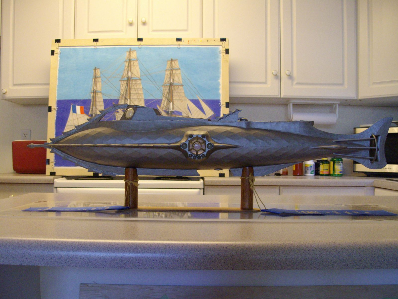 051   1/48th. scale scratch built Disney Nautilus submarine