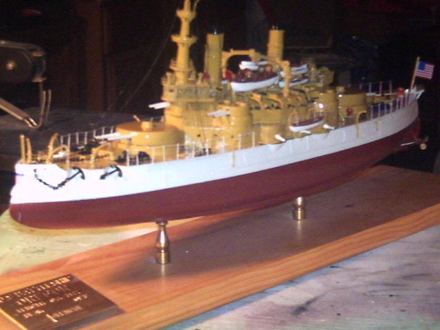 USS OREGON 1898 Scratched built 1/384 scale made from paper
