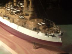 USS OREGON 1898 1/384 scale made from paper