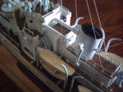 USCGC CAMPBELL 1/192 scale scrach built