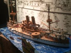 USS MAINE 1898 Scale 1/192
