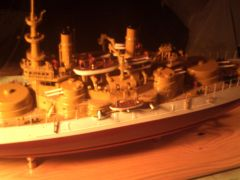 USS OREGON 1898 1/384 Scale Scratch built