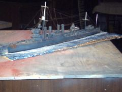 USS WARD 1941 sCALE 1/384 SCRATCH BUILT
