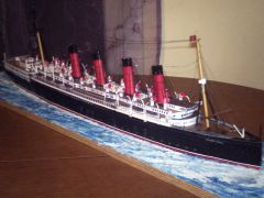 RMS MAURETANIA Scratch built from paper card scale 1/200