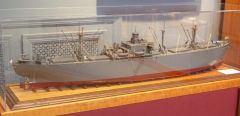 LIBERTY SHIP PATRICK HENERY Scale 1/92 completed sitting in our l;ivng room