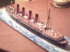 RMS MAURETANIA Scatch built from paper scale 1/200