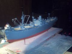 LIBERTY SHIP SS PATRICK HENERY Scratch built scale 1/92 durring her construction
