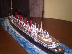 RMS MAURETANIA Scratch built from paper card. Scale 1/200
