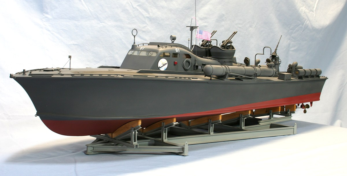 PT-61, 1941 Elco 77 foot US PT Boat; 3D Printed