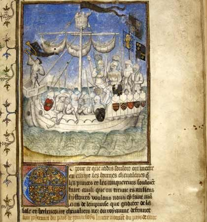 Expedition to Canary Islands. British Library, Egerton MS 2709, fol. 2  (Paris)