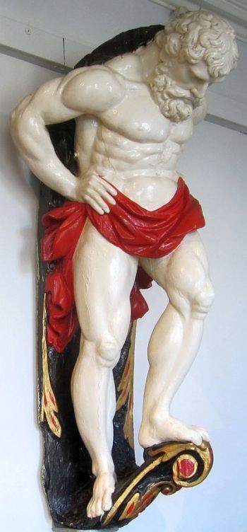 HMS Bellerophon Figurehead - 1786.   Hms bellerophon, Greek statue, Statue