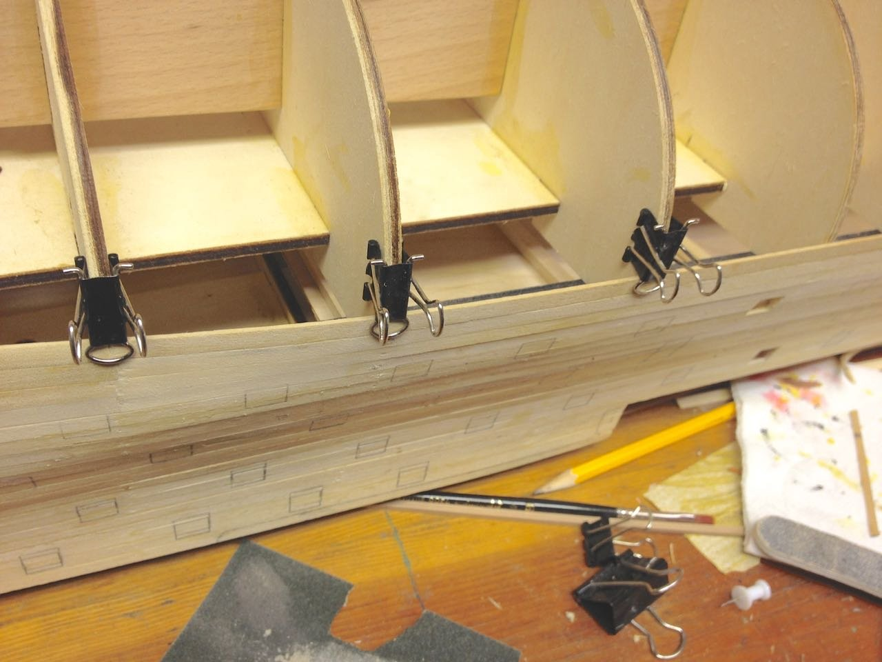 Simple Planking Clamp from Binder Clips | Ship Modeler