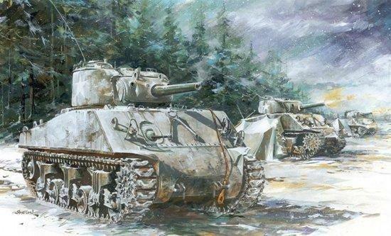 Eduard 1 72 M-4a3 105mm Sherman Tank Open Model Kit 7602 Parts Are ...
