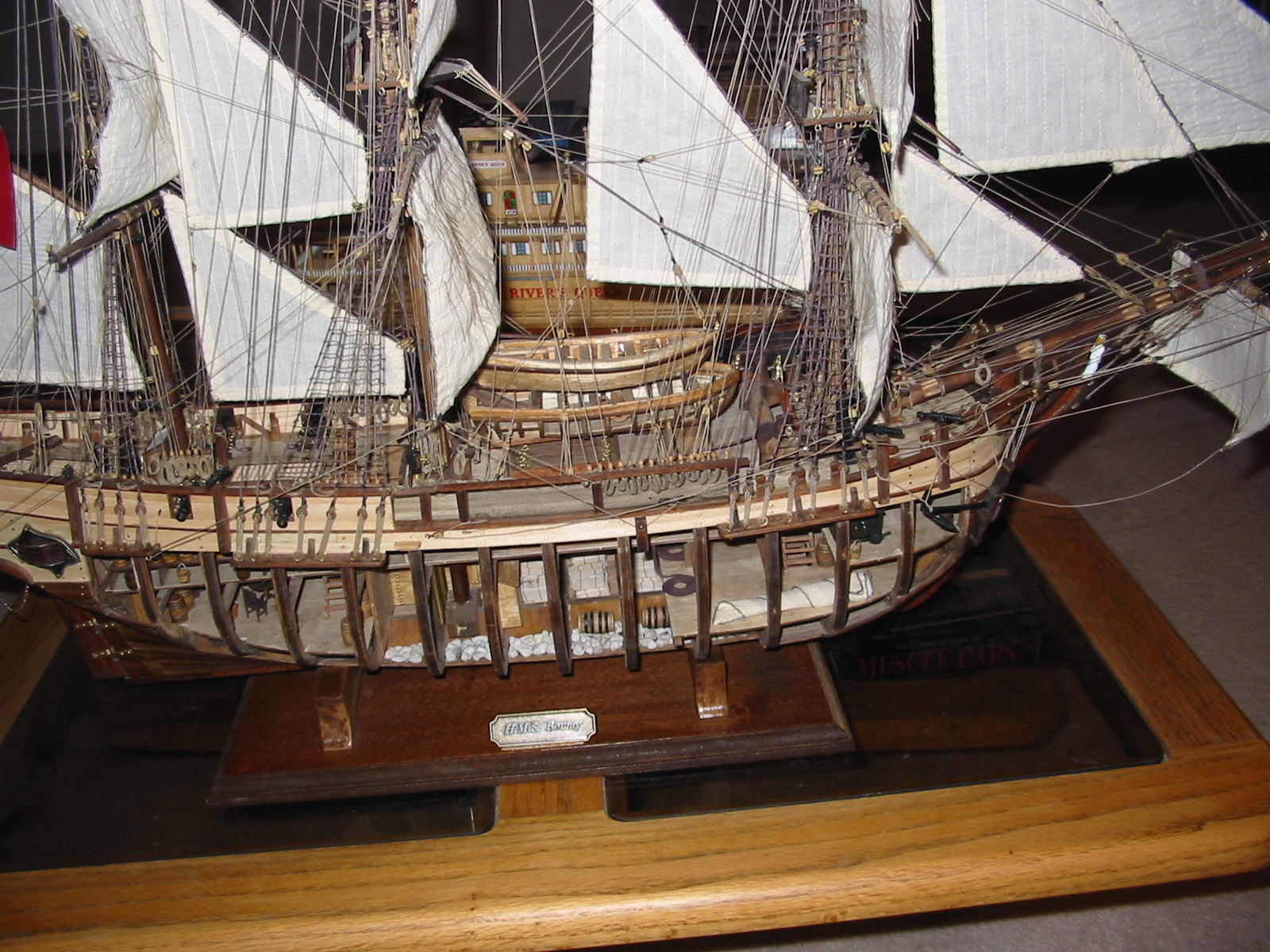 Occre Bounty With Cut Away Section Wood Ship Model Kits