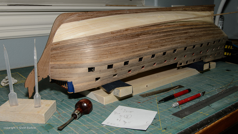 My Process for Planking - Building, Framing, Planking and plating a ships hull and deck ...