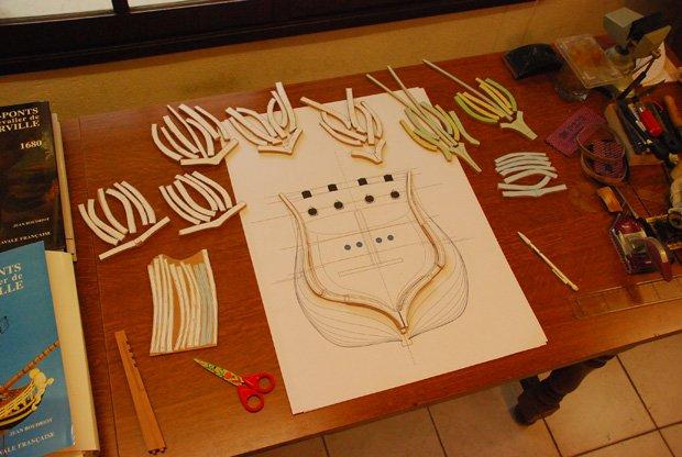 8 -18-02-2009 la découpe des membrures avec mes plans.jpg