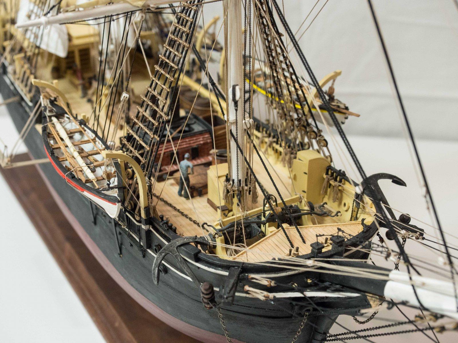 Starboard front quarter close-up