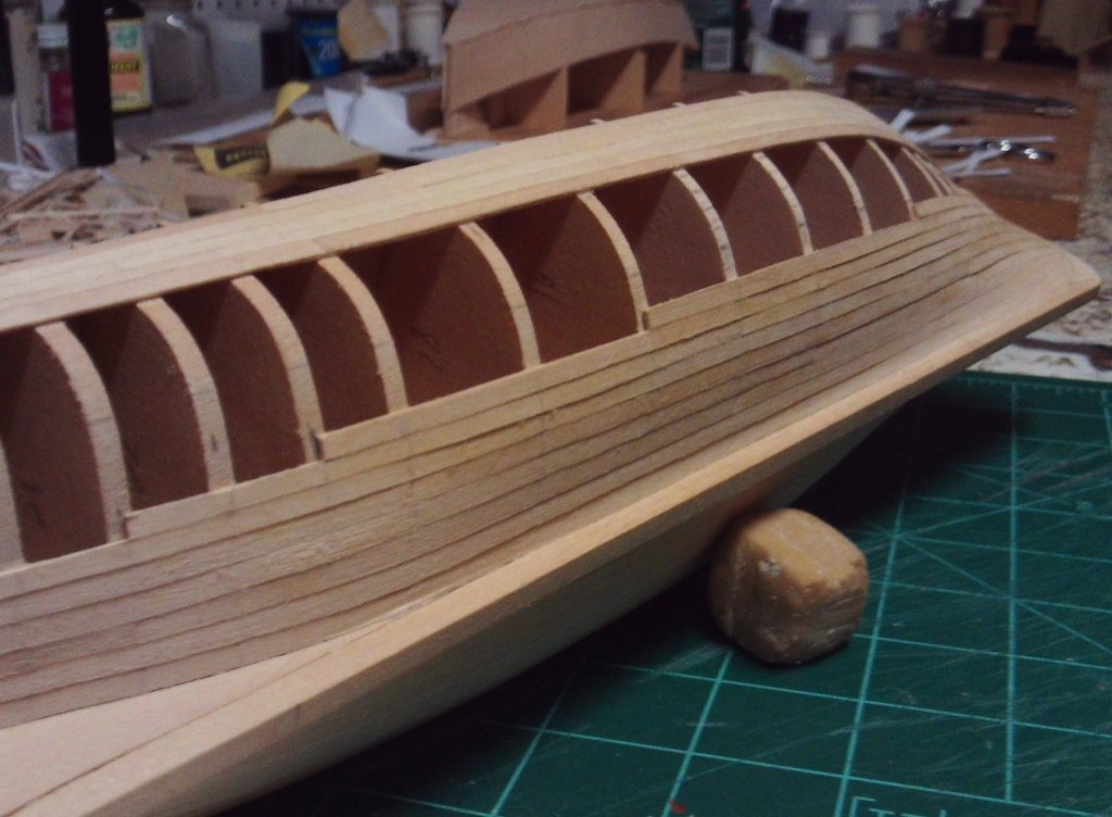 progress starboard planking aft 7-9-2017.JPG