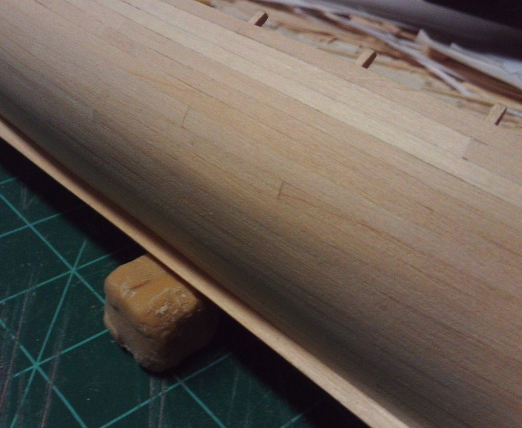 progress starboard planking seams 7-17-2017.JPG