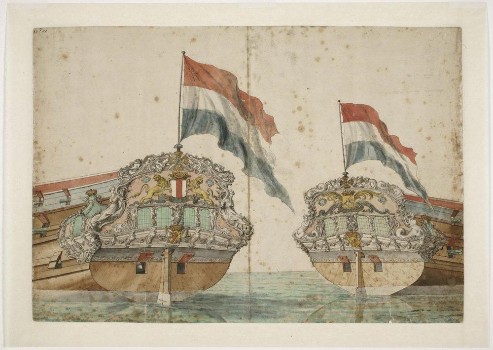 Spiegel en zijgalerij van het oorlogsschip 'Hellevoetsluis' uit 1694 1.jpeg