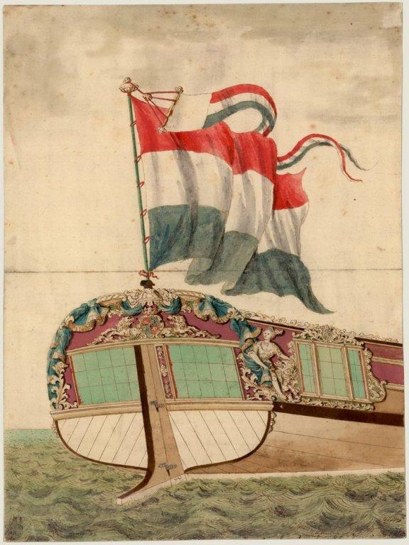 Spiegel van een Prinsenjacht uit 1720.jpg