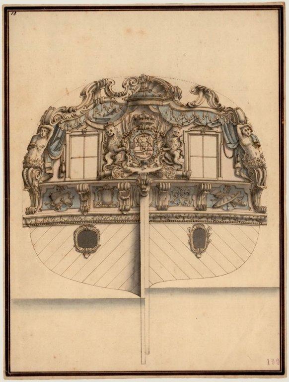 Spiegel van het jacht van Willem V uit 1764 2.jpg