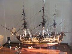 H.M.S. Victory diorama.