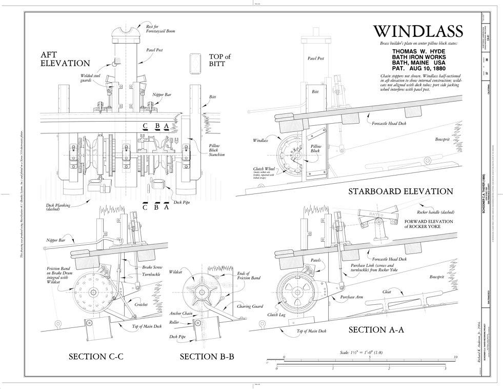 hyde windlass company capstan and windlass c  1890