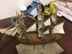 Boat repair - before/after