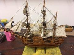 Model ship from Mauritius - rebuild