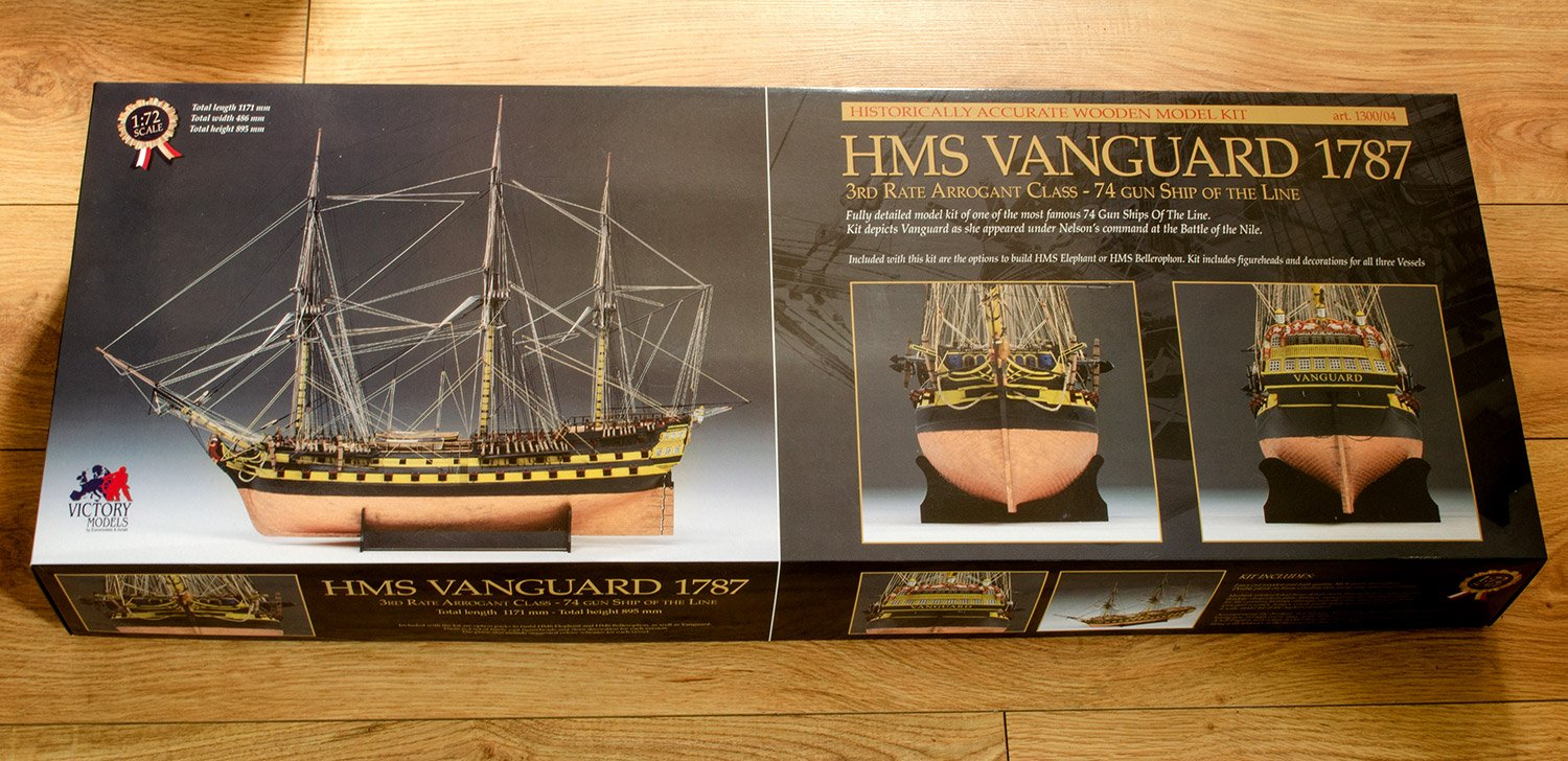 1/72 HMS Vanguard 1787 - REVIEWS: Model kits - Model Ship